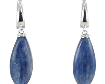 Kyanite Earrings Sterling Silver Teardrop