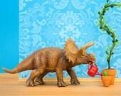 Triceratops dinosaur wall art print - Green Thumb