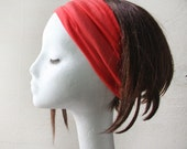 Rayon Yoga Headband, Coral pink, Neon Pink