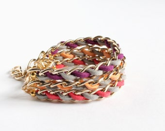Fruit Inspired Faux Suede Stacking Bracelet