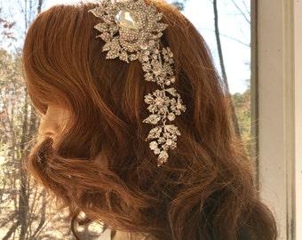 Rhinestone Crystal  Comb, Rhinestone Bridal Headpiece, Rhinestone Bridal Clip, Bridal  Hair  Comb, Wedding Hair Accessory