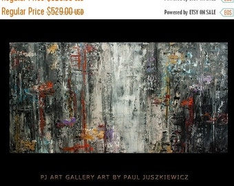 """17% OFF /ONE WEEK Only/ Serenity huge abstract knife by Paul Juszkieiwcz 60""""x30"""" texture"""