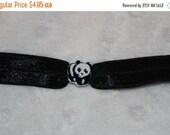 ON SALE 10% off Set of 10 Black White Panda Bear slide charm charms for 8mm Bracelet or Hair Ties P21
