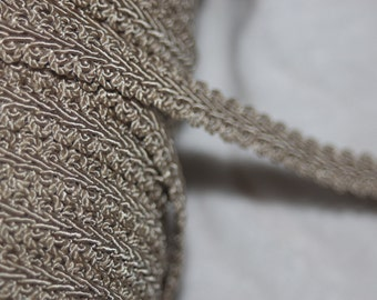 """5 yards Tan Gimp Upholstery sewing craft Trim 1/2"""" wide"""