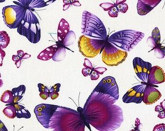 Viola Butterfly - Timeless Treasures - Half Yard