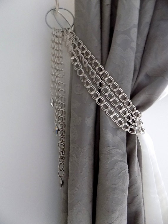 Decorative Silver Chains Tieback With By Milanchicchandeliers
