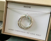 Custom coordinates necklace for mom gift for her, custom coordinates gift from kids name necklace - Lilia