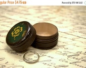 MOTHERS DAY SALE Four Leaf Clover Pill Box, Wooden Pill Box, Small Pill Box, Irish Gift Box, Ireland, Kelly Green, Clover, St. Patrick's day