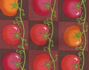 Lush Harvest from Riverwoods Fabrics - 1 Yard Red Tomatoes on Vine