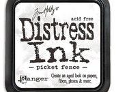 Tim Holtz Distress Full Size Ink Pad PICKET FENCE White Opaque