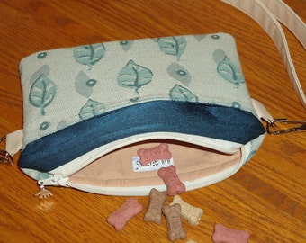 Dog Treat Pouch - Puppy Training Bag - Waist Pouch - Dog Walking Bag - Zipper Closure - Adjustable/Removable Strap - Cell Phone Bag
