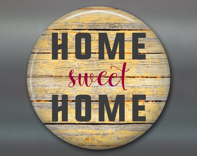 "3.5"" home sweet home decor, rustic wood sign magnet, kitchen decor MA-SIGN-3"