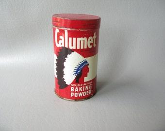 Vintage Baking Powder Tin, Calumet Baking Powder,