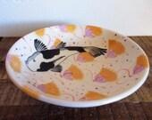 "1986 Kirkwood Mei Ming Ware Pottery Santa Fe 8"" Koi Bowl"