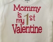 First Valentines Boy Onesie, baby boy Valentine onesie, Baby's First Valentine's Day, Valentine's Onesie