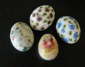 Ceramic Easter Eggs - Handmade - Hand Painted - Artist Signed