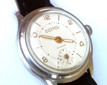 25% OFF ON SALE Vintage wrist watch Vostok  ladies watch womens watch, small watch