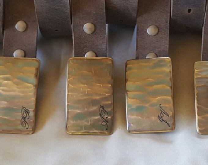 Personalized Monogrammed Buckle & Belt Set - Customized Accessories Wood Grain Buckle and Leather Belt Set - Bridal Set Groom Groomsmen Gift