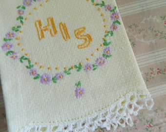 Embroidered Hand/Tea/Guest Towel