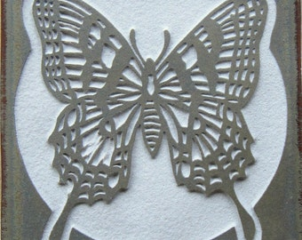 Swallowtail Butterfly - 4x4 Etched Porcelain Tile