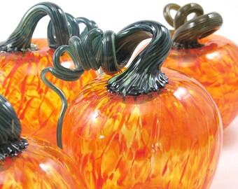"""3"""" Blown Glass Pumpkins"""