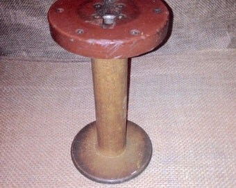 Heavy Wood Textile Spool Large Industrial