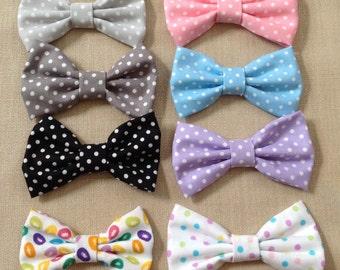 Polka Dot Hair Bow, Jelly Bean Hair Bow, Easter, Easter hair bow, polka dot hair clip, Easter pony tail