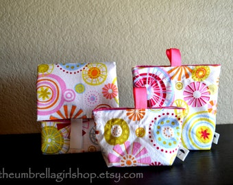READY TO SHIP Flower Power Reusable Lunch Kit