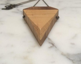 Triangle Maple/Walnut Pendant