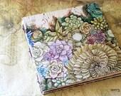 Handmade Art Journal Watercolour Sketchbook - Succulent