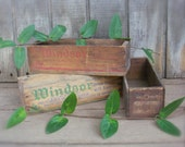 Antique Wood Cheese Boxes Windsor Mel-O-Bit Pimento Christmas Card Holder Primitive