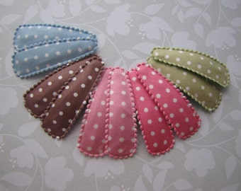 Soft Polka Dots . snap clips . toddler hair accessory . rose pink blue green brown