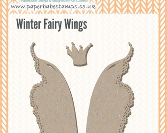 Mixed Media Blanks ~ Winter Fairy Wings Kit ~ Paperbabe Stamps ~ MDF Substrate for mixed media and craft.