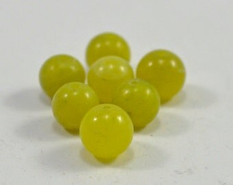 Olive jade rounds, 6mm - #1343