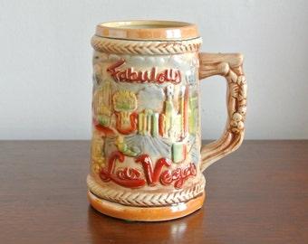 Vintage Ceramic Mug - Fabulous Las Vegas Souvenir Mug - Vtg Las Vegas Souvenir - Las Vegas Nevada Collectible Mug - Vintage Barware Gift