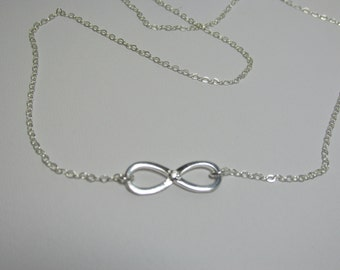 Infinity Necklace, Infinity CZ Necklace, Eternity Necklace, CZ, Bride, Bridesmaid, Eternity, Infinity, Necklace, Sterling Silver, Love, Mom