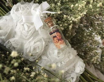 Wedding Bouquet Photo Charm - Photo in a Bottle