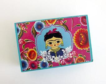 Frida Kahlo jewelry box. Original artwork