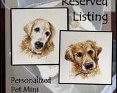 RESERVED Personalized Pet Mini,Original Hand Painted, Decorative Portrait Ornament
