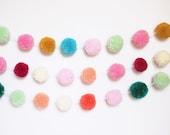 Custom pom pom garland- design your own (list color choices at checkout)