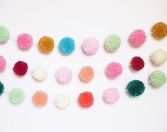 Custom pom pom garland- design your own (list color choices at checkout)