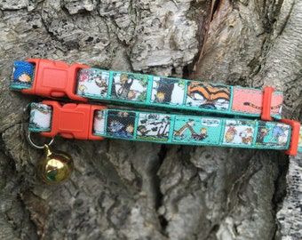 Calvin and Hobbes Comicstrip Cat Collars