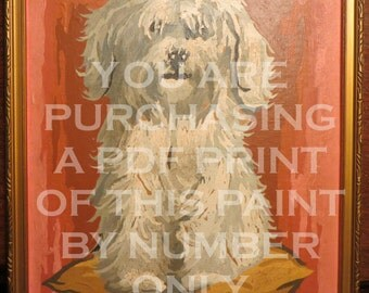 Paint by Number Puppy - Instant Download
