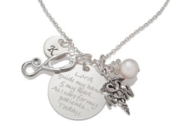 Gift for RN Nurse Graduation Gift from Nursing School Necklace Jewelry 925 Sterling Silver N008