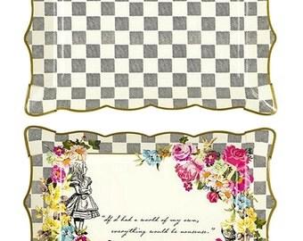 Alice in Wonderland Rectangle Plates/Platter set of 4