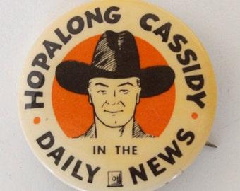 Hopalong Cassidy in the Daiy News Pin