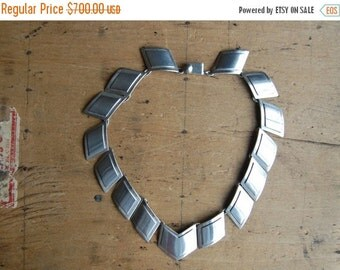 SALE Mexican Modernist sterling Popowski necklace ∙ Popowski 1950s sterling Mexican necklace