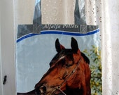 LINED Feedsack Tote - Horse