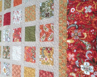 Simply ALLLURE-ing 54x60 quilt in autumn colors