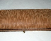 Antique Leather and Velvet Double Fountain Pen case Box